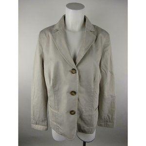 L.L. Bean Cotton Button Front Blazer Jacket